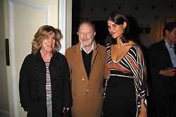 Left to right, Director NICOLAS ROEG, ? and KATRINA PAVLOS at the Grand Classics screening of his film 'Don't Look Now' sponsored by Motorola held at The Electric Cinema, 181 Portobello Road, London W11 on 24th September 2007. <br />