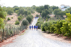Bristol Rovers walk to training on their first day in Portugal - Mandatory by-line: Robbie Stephenson/JMP - 18/07/2017 - FOOTBALL - Colina Verde Golf & Sports Resort - Moncarapacho, England - Sky Bet League One