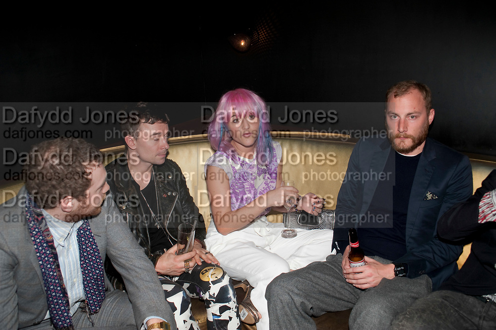JAIME WINSTONE; JAMES SMALL, Esquire Magazine's June issue hosted by the magazine's new editor Alex Bilmes and singer Lily Allen. Sketch.  5 May 2011<br /> <br />  , -DO NOT ARCHIVE-© Copyright Photograph by Dafydd Jones. 248 Clapham Rd. London SW9 0PZ. Tel 0207 820 0771. www.dafjones.com.
