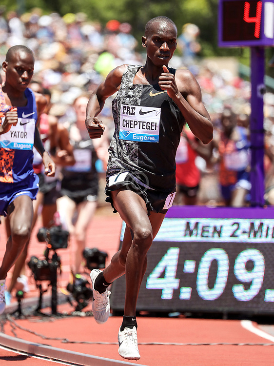 Joshua Cheptegei, Kenya, winner of mens 2-Mile at 2019 The Prefontaine Classic Track & Field<br /> IAAF Diamond League