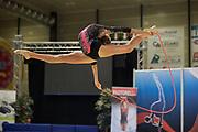 Ilaria Giovanelli from Pontevecchio team during the Italian Rhythmic Gymnastics Championship in Padova, 25 November 2017.