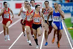 11-08-2006 ATLETIEK: EUROPEES KAMPIOENSSCHAP: GOTHENBURG <br /> Bram Som plaatst zich vrij gemakkelijk voor de finale op de 800 meter. Lacasse, Florent (364) en Ellis, Sam (GBR) gingen ook door naar de finale<br /> ©2006-WWW.FOTOHOOGENDOORN.NL