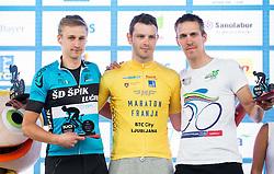 Best 3 men at 97km:  Miha Alič (Slo), Andrea Martinelli (Ita) and Matic Plaznik (Slo) at 35th Marathon Franja BTC City 2016, on June 11, 2016 in BTC, Ljubljana, Slovenia. Photo by Vid Ponikvar / Sportida