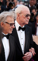 Actors Harvey Keitel amd Michael Caine at the gala screening for the film Youth at the 68th Cannes Film Festival, Wednesday May 20th 2015, Cannes, France.