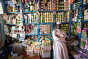 One of the few relatively well-stocked (but expensive) small markets in Abeche, Chad that carries canned and packaged goods. (Supporting image from the project Hungry Planet: What the World Eats.)