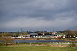 A view Huntingdon Racecourse after today's racing was abandoned. An outbreak of equine flu has forced the cancellation of all British racing on Thursday.