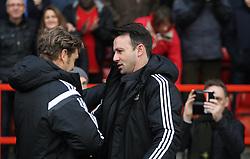 Fulham caretaker manager Peter Grant (L) and Nottingham Forest Manager Dougie Freedman before the match - Mandatory byline: Jack Phillips / JMP - 07966386802 - 5/12/2015 - FOOTBALL - The City Ground - Nottingham, Nottinghamshire - Nottingham Forest v Fulham - Sky Bet Championship