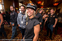 2017 Sturgis Grand Marshall Jessi Combs at the Sturgis Motorcycle Hall of Fame 2017 Induction Breakfast during the annual Sturgis Black Hills Motorcycle Rally. Deadwood, SD. USA.  August 9, 2017.  Photography ©2017 Michael Lichter.