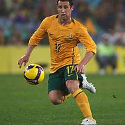 Scott McDonald in action during the 2010 Fifa World Cup Asian Qualifying match between Australia and Uzbekistan at Stadium Australia in Sydney, Australia on April 01, 2009. Australia won the match 2-0.  Photo Tim Clayton