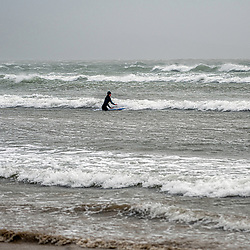 Storm Ciara Hits the UK but for some its time to hit the surf Weymouth And Portland Dorset 09/02/2020 Storm Ciara hits the UK, but for some its surf as normal Storm Ciara hits the UK for some on the Dorset coast its surf as usual Weymouth England (Photo by Steven Brennan