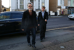 © Licensed to London News Pictures. 09/03/2020. London, UK. RINGO STARR's grandson, SONNY STARKEY arrives at Wood Green Crown Court. He along with LIAM GALLAGHER's son GENE GALLAGHER and IMG model NOAH PONTE are charged with affray and and racially aggravated common assault following a late-night incident at a Tesco Express store on Heath Street in Hampstead on May 17 2019.  Photo credit: Dinendra Haria/LNP