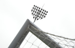 """General view of a floodlight at Turf Moor before the Premier League match at Turf Moor, Burnley. PRESS ASSOCIATION Photo. Picture date: Sunday August 19, 2018. See PA story SOCCER Burnley. Photo credit should read: Dave Howarth/PA Wire. RESTRICTIONS: EDITORIAL USE ONLY No use with unauthorised audio, video, data, fixture lists, club/league logos or """"live"""" services. Online in-match use limited to 120 images, no video emulation. No use in betting, games or single club/league/player publications."""
