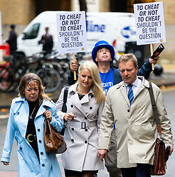 Craig McKinley MP arrives at Southwark Crown Court where he and two of his aides, charged over alleged undeclared expenses concerning the party's 2015 General Election Battle Bus, face trial, expected to last six weeks . London, October 15 2018.