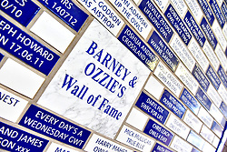 A general view of the Wall of Fame Hillsborough home of Sheffield Wednesday