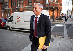 © Licensed to London News Pictures. 27/02/2019. London, UK. Brexit Secretary STEPHEN BARCLAY is seen in Westminster, London ahead of a Radio interview. British Prime Minister Theresa May has promised a vote on leaving the EU with no deal if her deal is rejected by Parliament. The UK is due to leave the EU on March 29th. Photo credit: Ben Cawthra/LNP