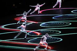 February 25, 2018 - Pyeongchang, South Korea - Closing ceremony for the Pyeongchang 2018 Olympic Winter Games at Pyeongchang Olympic Stadium. (Credit Image: © David McIntyre via ZUMA Wire)