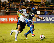 Montreal Impact forward Daniele Paponi (35) attacks the goal against San Jose Earthquakes defender Jason Hernandez (21) in the second half of the game at Buck Shaw Stadium in Santa Clara, California, on September 17, 2013.  The San Jose Earthquakes beat Montreal Impact 3-0. (Stan Olszewski/QMI Agency)