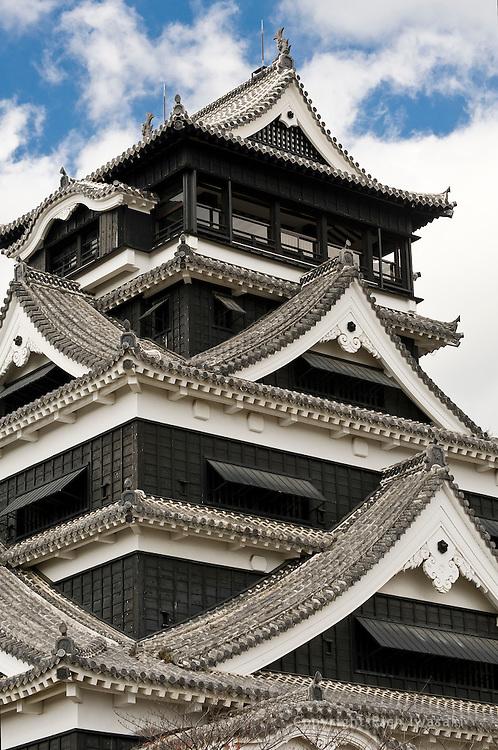 Detail view of Kumamoto Castle, Kumamoto city, Kumamoto Prefecture, Japan