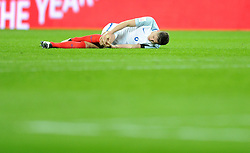 John Stones of England goes down injured  - Mandatory by-line: Dougie Allward/JMP - 29/03/2016 - FOOTBALL - Wembley Stadium - London, United Kingdom - England v Netherlands - International Friendly