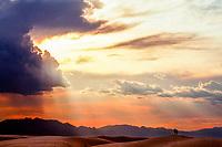 White Sands National Monument near Alamogordo, New Mexico USA
