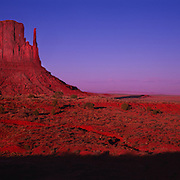 Mittens in Monument Valley Tribal Park on the Navajo Reservation, AZ.