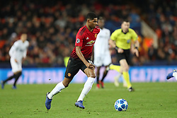 December 12, 2018 - Valencia, Spain - December 12, 2018 - Valencia, Spain - .Marcus Rashford of Manchester United during the UEFA Champions League, Group H football match between Valencia CF and Manchester United on December 12, 2018 at Mestalla stadium in Valencia, Spain (Credit Image: © Manuel Blondeau via ZUMA Wire)