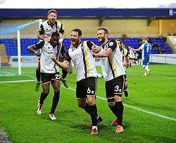 Bristol Rovers' Tom Parkes (C) celebrates his goal - Photo mandatory by-line: Neil Brookman/JMP - Mobile: 07966 386802 - 22/11/2014 - Sport - Football - Chester - Deva Stadium - Chester v Bristol Rovers - Vanarama Football Conference