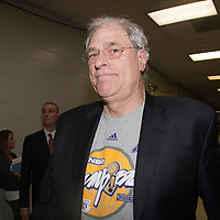 14 june 2009: Phil Jackson, coach of the Los Angeles Lakers, is seen after game 5 of the 2009 NBA finals won 99-86 by the Los Angeles Lakers over the Orlando Magic at Amway Arena, in Orlando, Florida, USA.