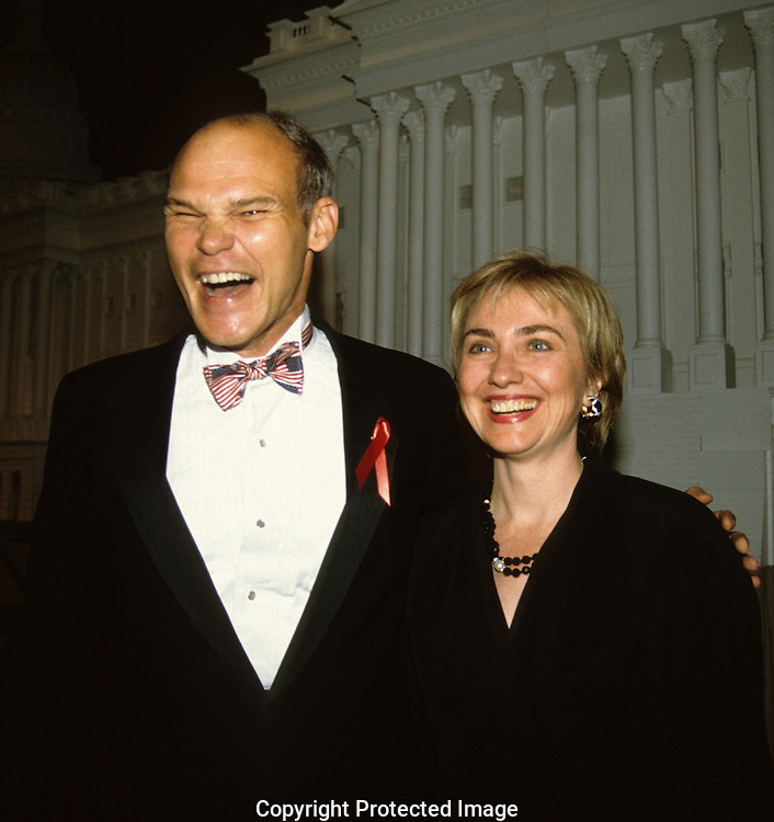 Hillary Rodham Clinton with at a roast for James Carville in June 1993...Photograph by Dennis Brack bb30