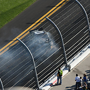 Sprint Cup Series driver Matt Kenseth (17) spins out at Daytona International Speedway on February 20, 2011 in Daytona Beach, Florida. (AP Photo/Alex Menendez)