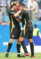 Fotball<br /> Bundesliga Tyskland<br /> Foto: Witters/Digitalsport<br /> NORWAY ONLY<br /> <br /> 26.08.2006<br /> v.l. Kevin McKenna, Vragel da Silva Cottbus<br /> Bundesliga VfL Bochum - FC Energie Cottbus 0:1