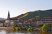 the town and hill tain l hermitage rhone france