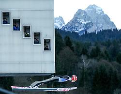 31.12.2016, Olympiaschanze, Garmisch Partenkirchen, GER, FIS Weltcup Ski Sprung, Vierschanzentournee, Garmisch Partenkirchen, Qualifikation, im Bild Karl Geiger (GER) // Karl Geiger of Germany during his Qualification Jump for the Four Hills Tournament of FIS Ski Jumping World Cup at the Olympiaschanze in Garmisch Partenkirchen, Germany on 2016/12/31. EXPA Pictures © 2016, PhotoCredit: EXPA/ Jakob Gruber
