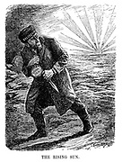 The Rising Sun. (a Russian Bolshevik moves away from the rising sun of Japan after having stolen a bag of German Gold with a dagger during WW1)