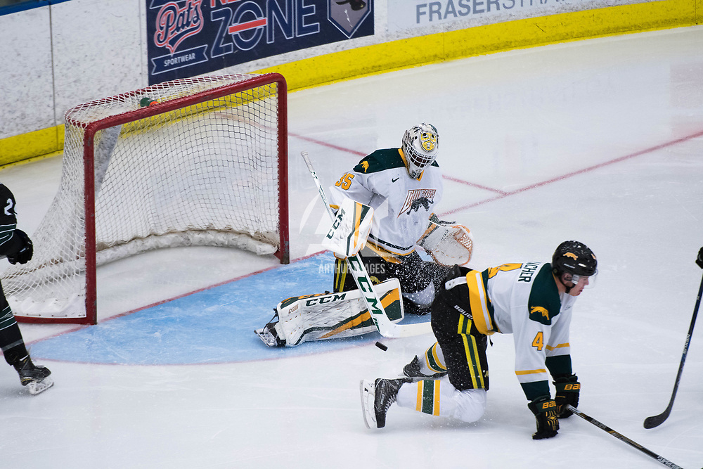 in action during the Men's Hockey Home Opener on October 6 at Co-operators arena. Credit: Arthur Ward/Arthur Images