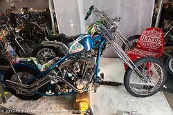 Custom 1981 Harley-Davidson Shovelhead at the Annual Mooneyes Yokohama Hot Rod and Custom Show. Japan. Sunday, December 7, 2014. Photograph ©2014 Michael Lichter.