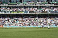 Mark Wood of England batting during the third day of the 5th Investec Ashes Test match between England and Australia at The Oval, London, United Kingdom on 22 August 2015. Photo by Ellie Hoad.