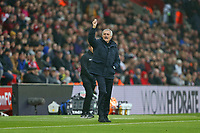 Football - 2019 / 2020 Premier League - Southampton vs. Tottenham Hotspur<br /> <br /> Tottenham Hotspur Manager Jose Mourinho questions a linesman decision during the Premier League match at St Mary's Stadium Southampton <br /> <br /> COLORSPORT/SHAUN BOGGUST