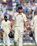 Alastair Cook of England, who has announced his international retirement, walks off the field for tea during the 4th day of the 4th SpecSavers International Test Match 2018 match between England and India at the Ageas Bowl, Southampton, United Kingdom on 2 September 2018.