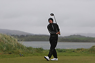Brandon St. John (Portmarnock) on the 6th tee during Round 3 of the Ulster Boys Championship at Donegal Golf Club, Murvagh, Donegal, Co Donegal on Friday 26th April 2019.<br /> Picture:  Thos Caffrey / www.golffile.ie