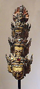 Avalokitesvara in his appearance as Ekâdaçamukha: Avalokitesvara 'The lord who looks down. ' is a major Bodhisattva in Mahayana Buddhism. 17th century copper, encrusted, gilded sculpture from: Tibet