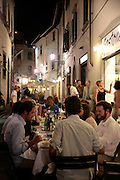 American students eating dinner, Florence, Italy, Florence, Italy