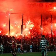 Galatasaray's Supporters fans during their Turkish soccer super league match Bursaspor between Galatasaray at the Ataturk Stadium in Bursa Turkey on Saturday, 02 February 2013. Photo by Aykut AKICI/TURKPIX