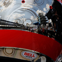 18-19 May, 2013, Indianapolis, Indiana, USA<br /> The Pagoda is reflected in Sebastien Bourdais' helmet<br /> ©2013, Phillip Abbott<br /> LAT Photo USA