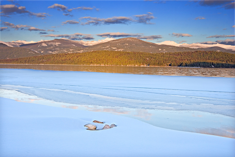 winter on the shores of Priest Lake, Idaho