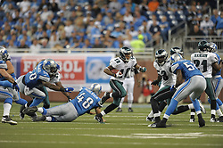 DETROIT - SEPTEMBER 19: Wide Receiver DeSean Jackson #10 of the Philadelphia Eagles runs the ball during the game against the Detroit Lions on September 19, 2010 at Ford Field in Detroit, Michigan. (Photo by Drew Hallowell/Getty Images)  *** Local Caption *** DeSean Jackson