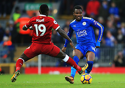 Daniel Amartey of Leicester City takes on Sadio Mane of Liverpool - Mandatory by-line: Matt McNulty/JMP - 30/12/2017 - FOOTBALL - Anfield - Liverpool, England - Liverpool v Leicester City - Premier League