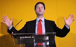 File photo dated 18/12/07 of Nick Clegg, who has lost his Sheffield Hallam seat to Labour.