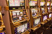 Slot Machines in a casino in Las Vegas, NV.