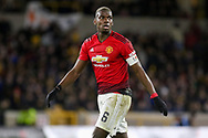Manchester United Midfielder Paul Pogba during the The FA Cup match between Wolverhampton Wanderers and Manchester United at Molineux, Wolverhampton, England on 16 March 2019.